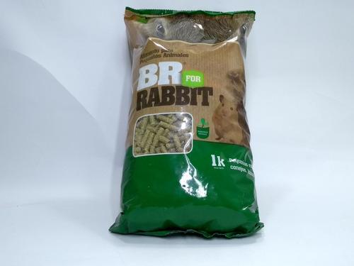 Br Rabbit 1kg + Heno 250gr. Alimento C - kg a $8500