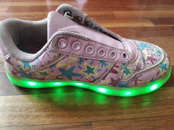 Zapatillas Con Luces Atomik Con Cargador Usb Talle 31