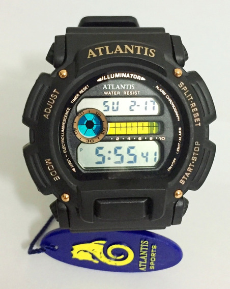 Relogio Atlantis T-force 7312g Blindage Resistente Preto