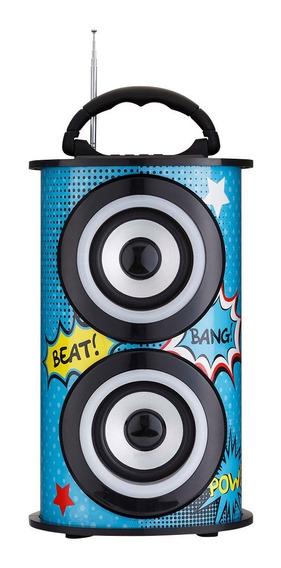 Caixa De Som Amplificada Portatil Bluetooth Usb Fm Trc 218c