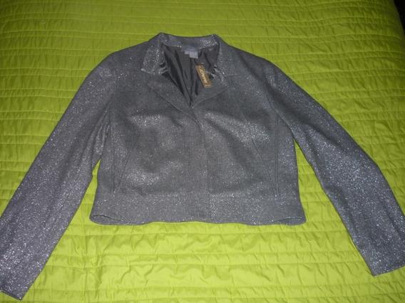 Abrigo Tipo Saco Color Gris Ecocci Talla 10