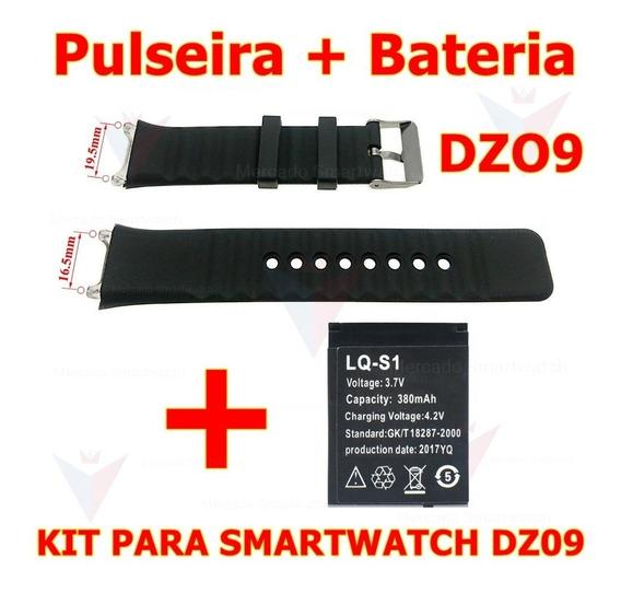 1 Pulseira + 1 Bateria Para Relógio Smartwatch Dz09