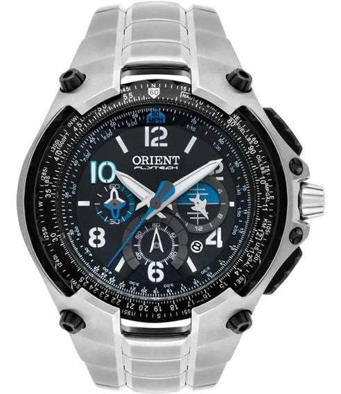 Relogio Masculino Orient Prata Flytech Mbttc016p2sx