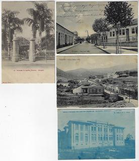 São Paulo 1913 4x Cartão Postal Amparo Jardim Público Bairro