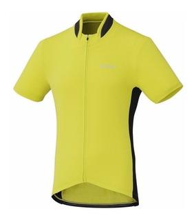 Camisa Shimano De Ciclismo Verde/preta Tamanho P