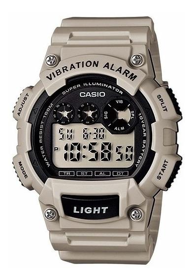 Relogio Casio W-735 H-8a2v Alarme Vibratório Cronometro 100m