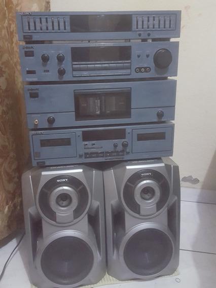 Som Antigo Sony Montado Vintage. U