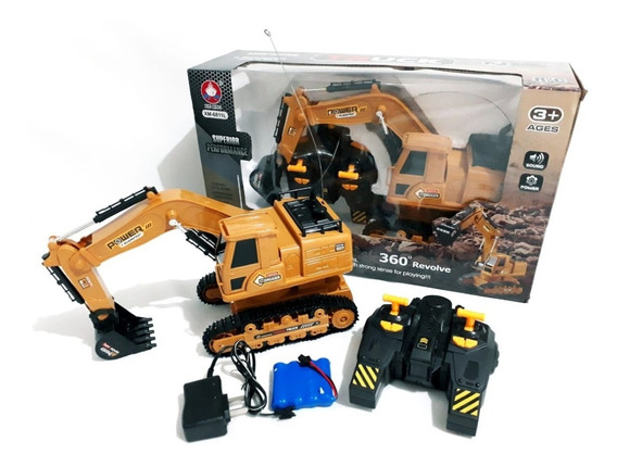 Trator Escavadeira Mod. 6811 R/c Infantil + Controle Remoto