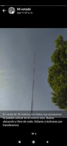 Imagen 1 de 10 de Torre De Hierro Para Wifi O Radio De 36 Metros