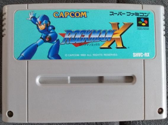 Cartucho Snes Rockman X Rock Man X Megaman X Mega Man X