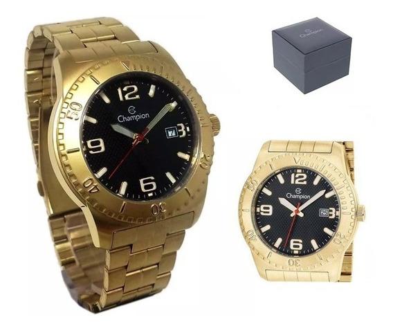 Relógio Champion Masculino Analógico Dourado Ca31480u