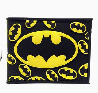 Billetera Vinilo Batman Logo - Dc Comics - Purpura Funnyland