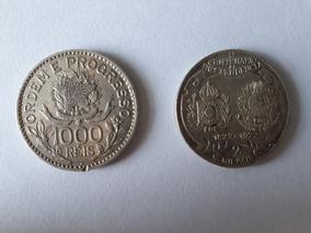 2 Moedas De Prata Do Brasil - 1913 E 1922