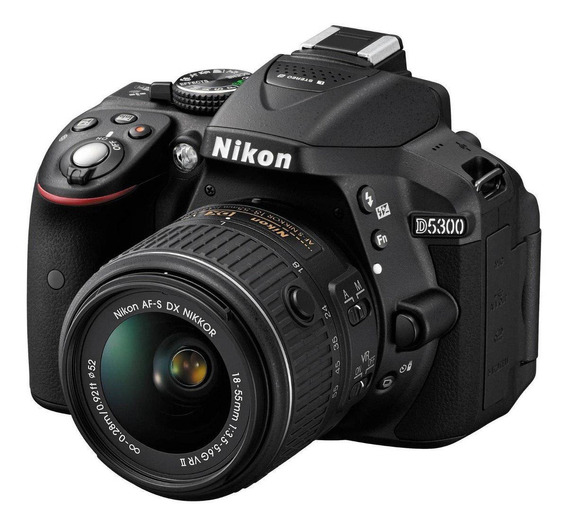 Nikon D5300 18-55mm VR II Kit DSLR color negro