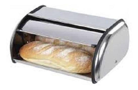 Novo Porta Pão Inox Ke Home Basculante Cozinha