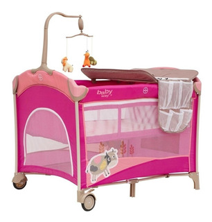 Cuna Pack & Play Baby Way Bw-612c15 Celeste-rosada