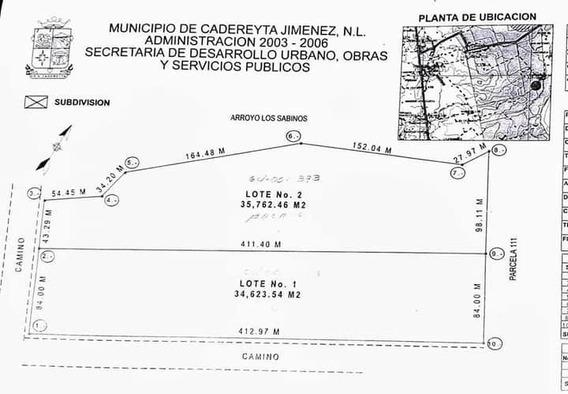 Terreno En Venta Ejido La Esperanza Cadereyta Jimenez, Nuevo