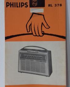 Manual De Instruções Rádio Philips Rl378 Anos 60 (cópia)