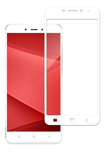 Vidrio Templado Xiaomi Redmi 4x Blanco Colocado - Otec