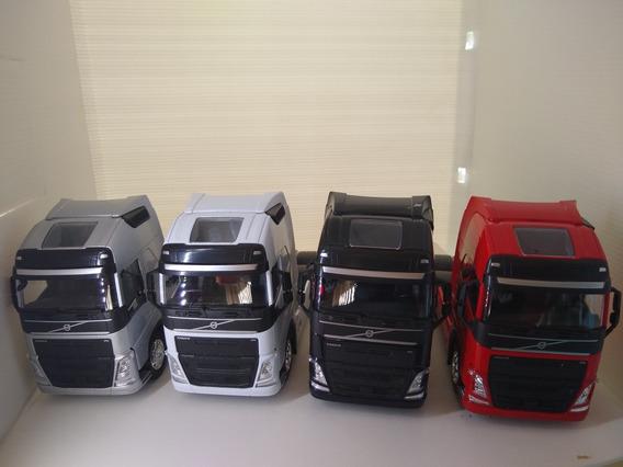 Miniatura Caminhao Volvo Fh 500 Trucado Kit C/4 Unidades