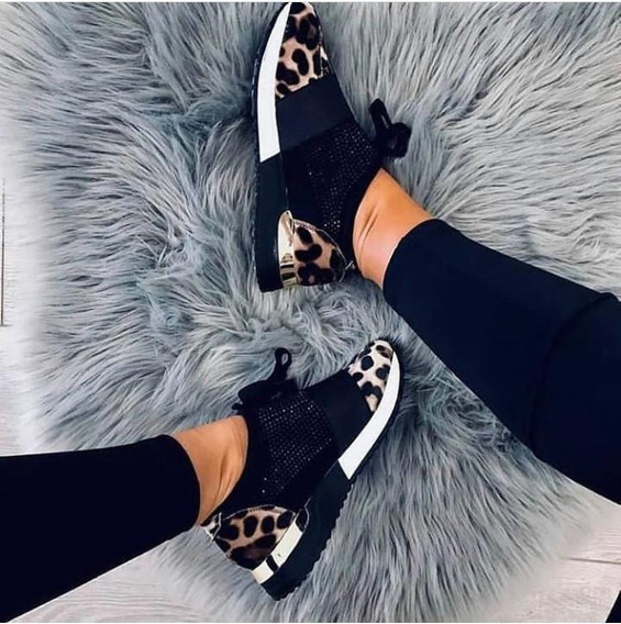 Zapatos Para Damas Deportivos Animal Print Ultima Moda 2019