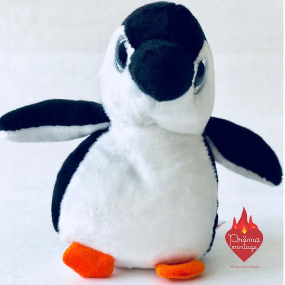 Pinguino Muñeco Peluche Ojos Grandes Brillantes Pingui Chico