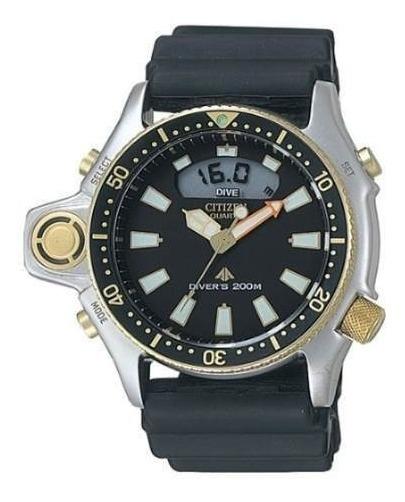 Relógio Citizen Aqualand Jp2004-07e Tz10137p Serie Ouro