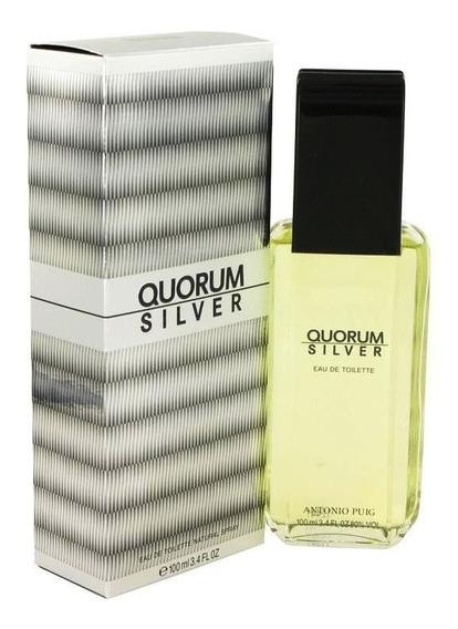 Perfume Importado Masculino Quorum Silver Antonio Puig 100ml