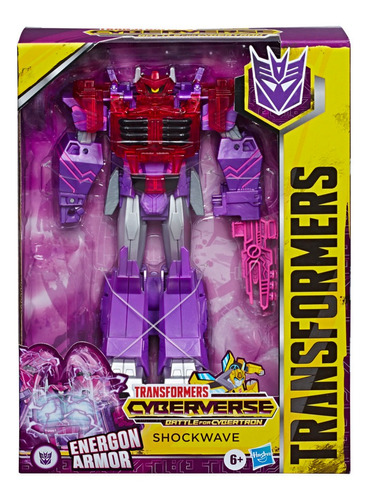 Imagem 1 de 3 de Boneco Transformers Cyberverse Energon Armor Shockwave