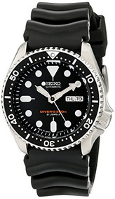 Seiko Skx007j1 Analog Japanese-automatic Black Rubber Diver