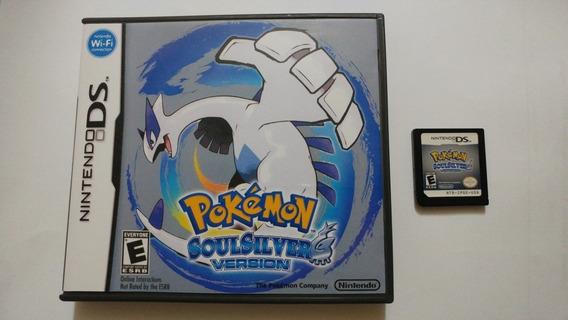 Nds: Pokemon Soul Silver Original Americano Na Caixa! Raro!