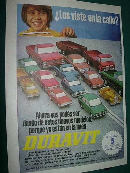 Clipping Publicidad Juguetes Duravit Modelos Autos Mod3
