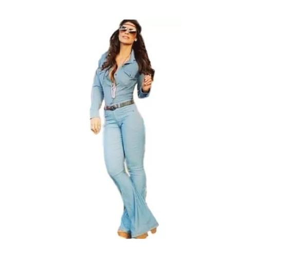 Calça Jeans Cintura Alta Feminina Boca Flare Sino Moda