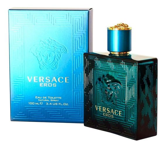 Perfume Masculino Versace Eros 100ml Edt A Pronta Entrega