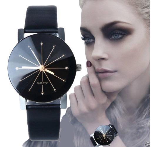 Reloj Para Dama Casual Elegante Negro Analogo