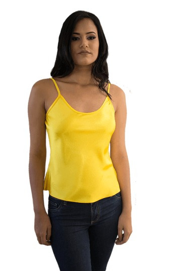 Camiseta Cetim Amarela