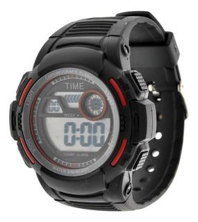 Reloj Hombre Digital Time. Deportivo Sumergible 3atm Tdig13