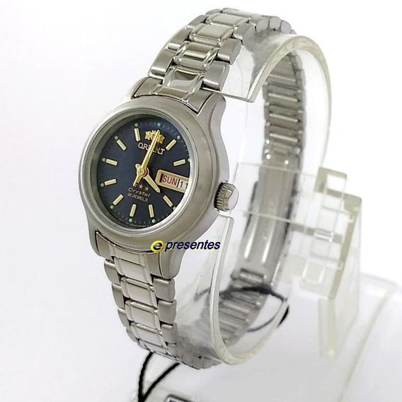 Relógio Feminino Orient Automático Fnq05006d9 25mm Largura
