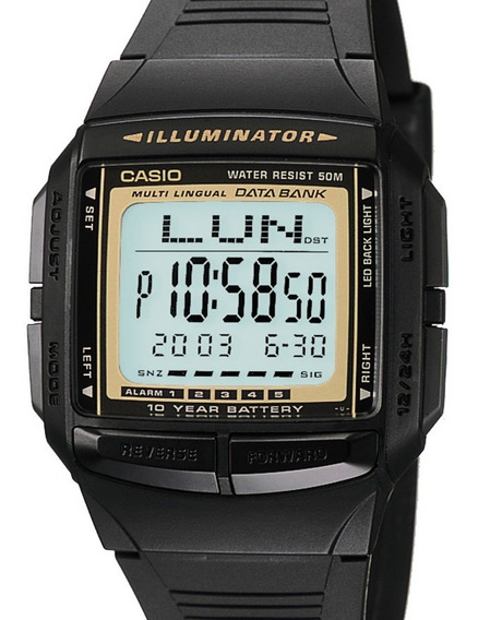 Relógio Casio Masculino Data Bank Db-36-9avdf