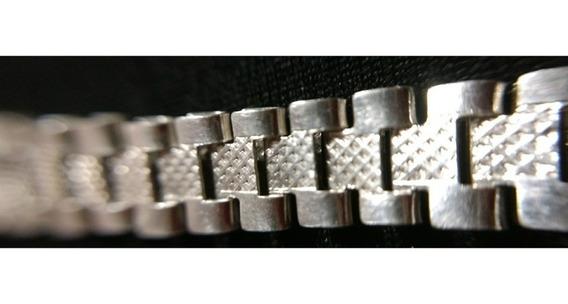 Pulso Pulsera De Plata Fina Ley 925 Caballero Rolex Hombre