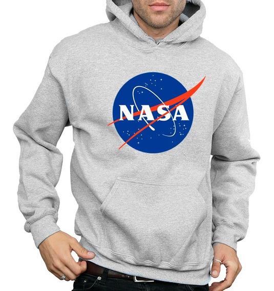 Sweater Nasa Con Capucha Algodón Estampado Dama Y Caballero