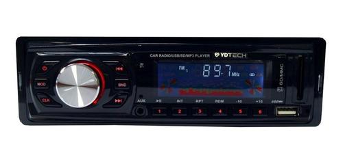 Som automotivo Ydtech 81677 com USB e leitor de cartão SD
