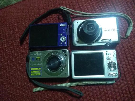 Lote De 4 Câmeras Digitais Com Defeito