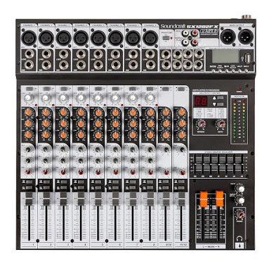 Mesa De Som Soundcraft 12 Canais Sx1202fx-usb