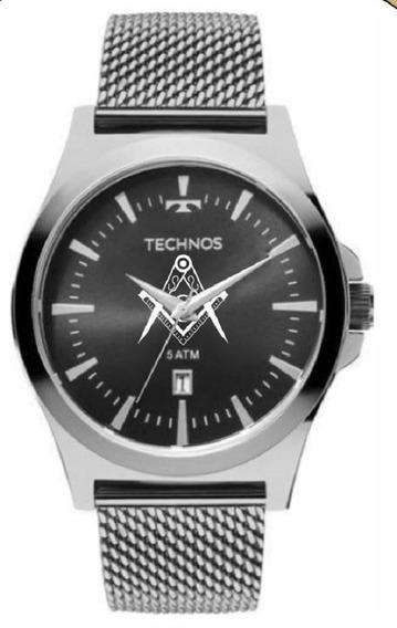 Relógio Technos Masculino Maçonaria 2115lal/0p Aço Analogico
