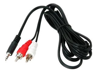 Kit 2 Cables Plug 3.5 Mm A 2 Rca 1.5m Mp3 Corneta Tv