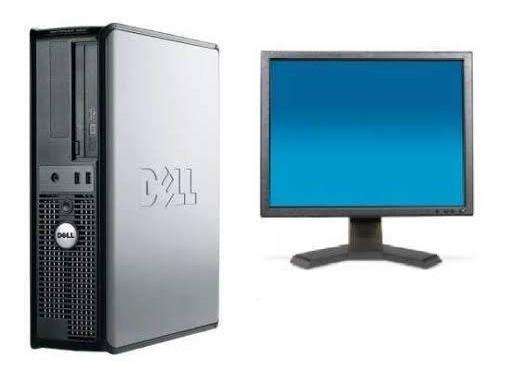 Computador Pc Cpu Completa Barato 4gb Ram + Lcd 17 - Usado