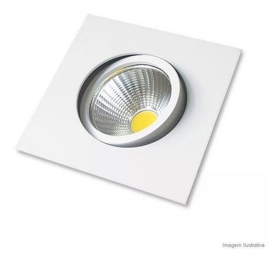 Spot Led Embutir Quadrado Direcionável 5w Branco Quente 1040