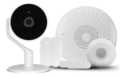Imagen 1 de 3 de Kit Alarma Nexxt Wifi App 1 Pir 2 Mag Sirena Cámara Interior