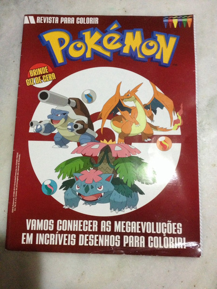 Revista Para Colorir Pokemon 2016